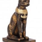 Die ägyptische Göttin Bastet in Katzengestalt