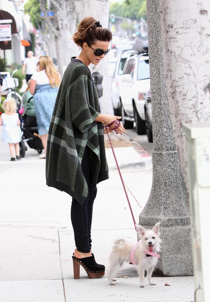 Kate Beckinsale beim Gassi gehen mit ihrem Hund