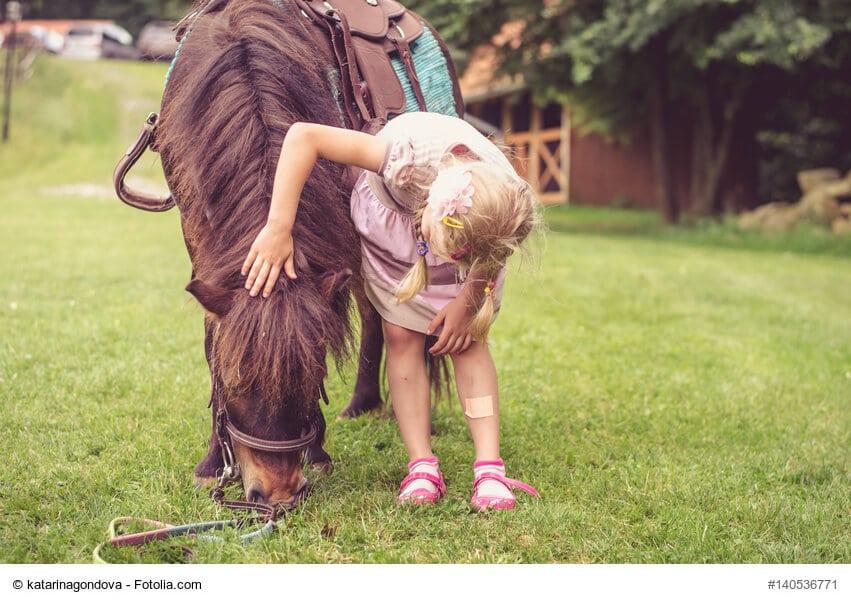 Beginn einer großen Liebe, Kind im Umgang mit Pony