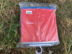 Hundepool von Fuloon in rot in einer Plastiktüte zusammen gefaltet verpackt