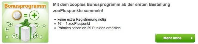 Zooplus Bonuspunkte sammeln und Geld sparen