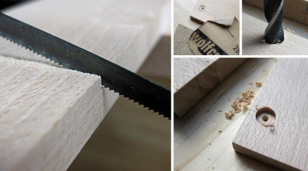 Ein paar Holzarbeiten gehören zur Intelligenzfutterbox dazu.