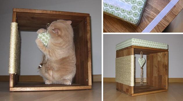 Die letzen Schritte für die Bauanleitung eines eigenen Katzen-Kratzwuerfel