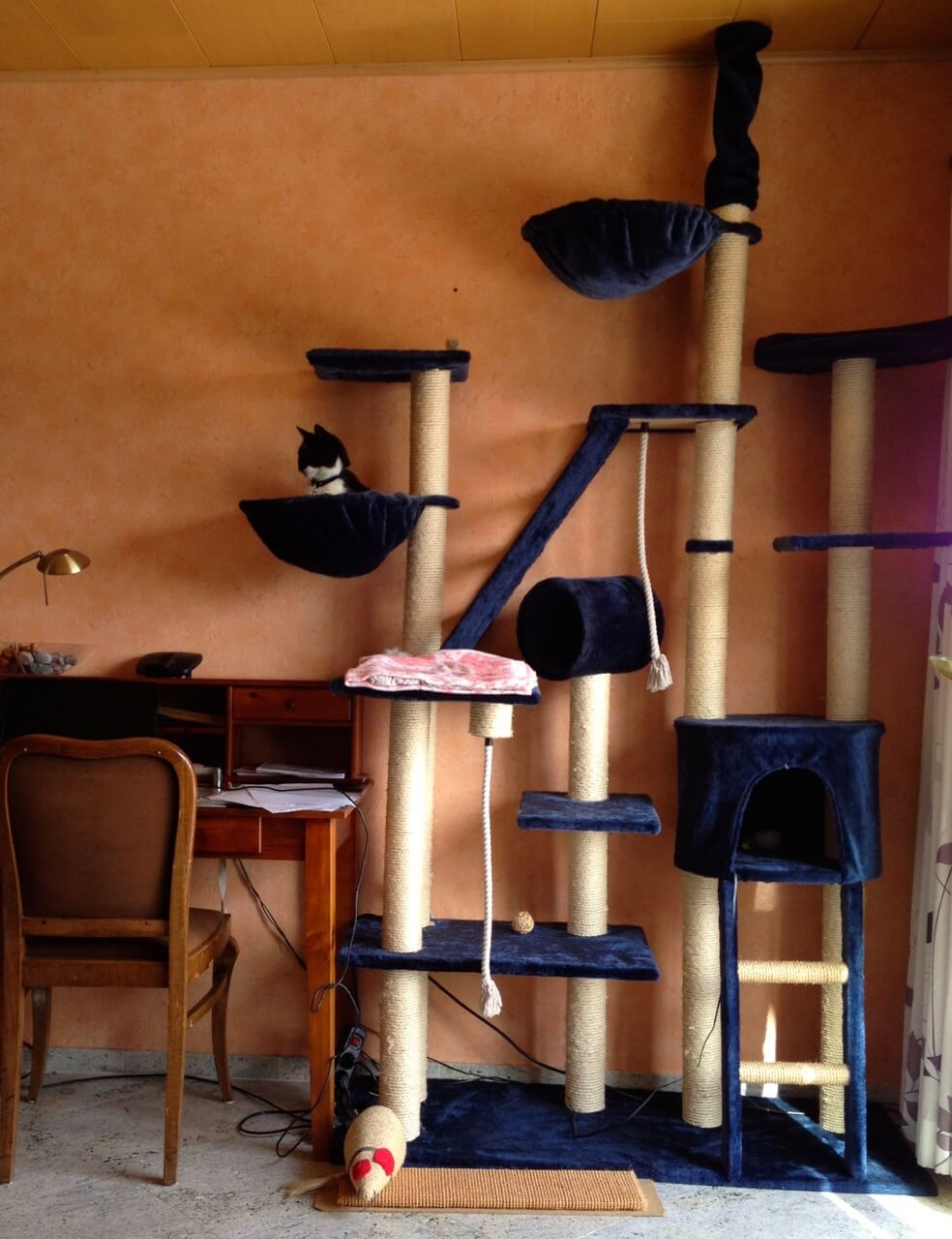Katzenkratzbaum mit großer Bodenplatte